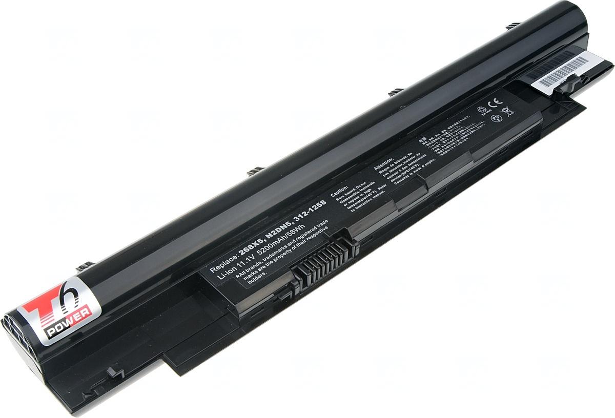 Baterie T6 power Dell Vostro V131, Latitude 3330, Inspiron N311z, N411z serie, 6cell, 5200mAh