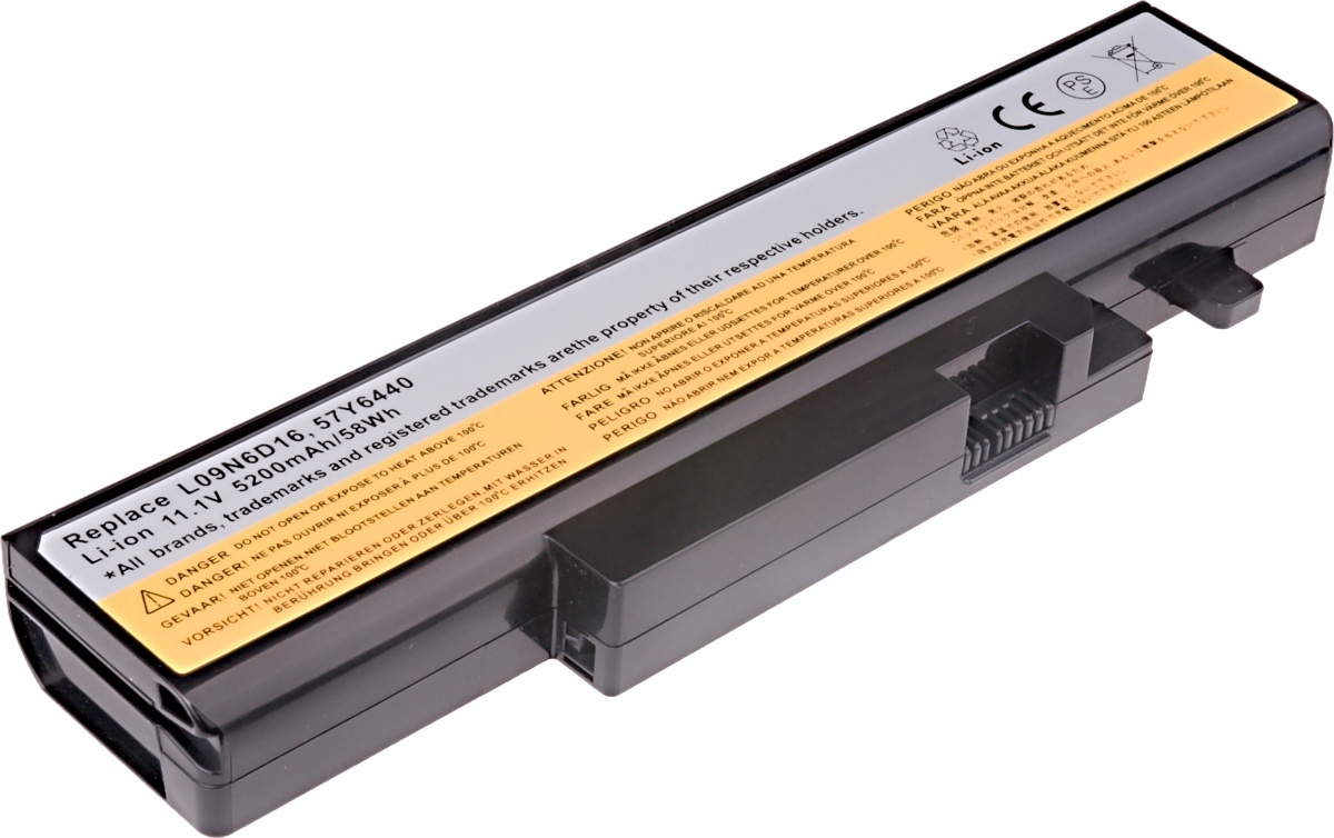 Baterie T6 power Lenovo IdeaPad Y460, Y560, B560, V560, 6cell, 5200mAh