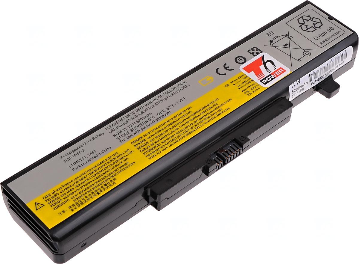Baterie T6 power Lenovo IdeaPad B480, B580, G480, B590, Z480, V480, Y480, Y580, 6cell, 5200mAh