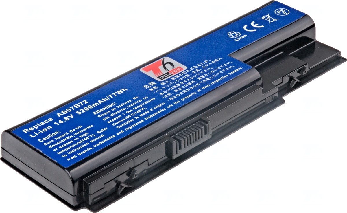 Baterie T6 power Acer Aspire 5310, 5520, 5720, 5920, 7720, 8730, TravelMate 7530, 8cell, 4600mAh