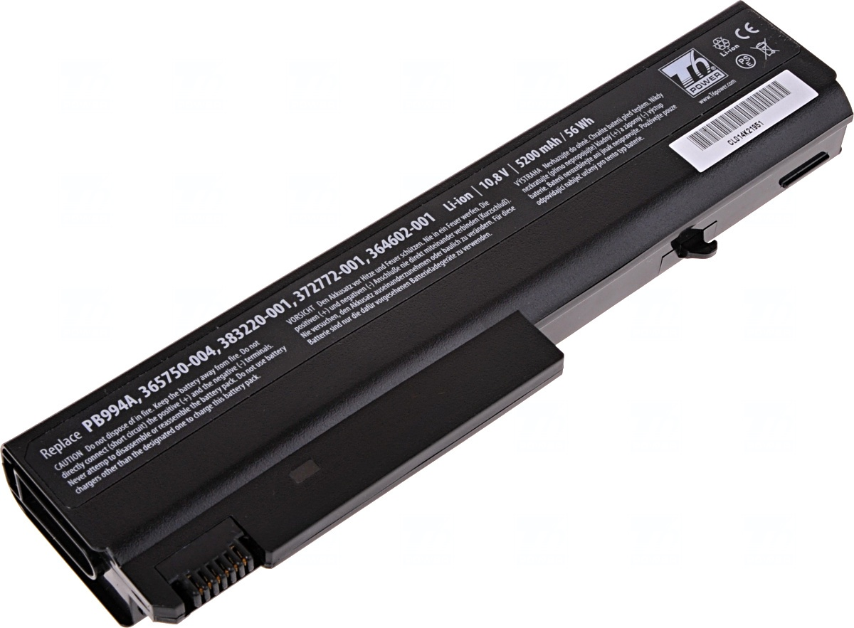Baterie T6 power HP Compaq nx6110, nx6120, nc6110, nc6120, 6510b, 6710b, 6910p, 6cell, 5200mAh