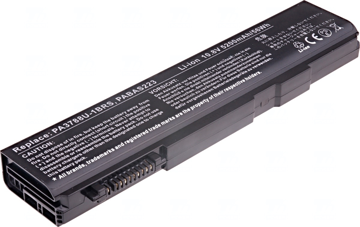 Baterie T6 power Toshiba Tecra A11, S11, M11, Satellite Pro S500, S750, 6cell, 5200mAh