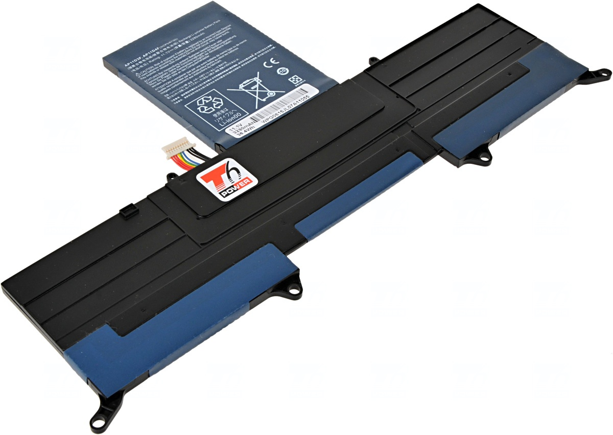 Baterie T6 power Acer Aspire S3-331, S3-371, S3-391, S3-951, 3cell, 3280mAh
