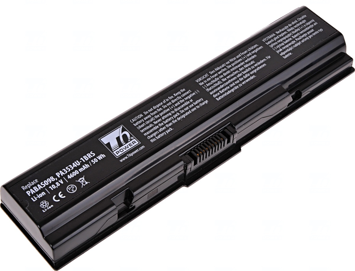 Baterie T6 power Toshiba Satellite A200, A300, A500, L200, L300, L450, L500, L550, 6cell, 4600mAh