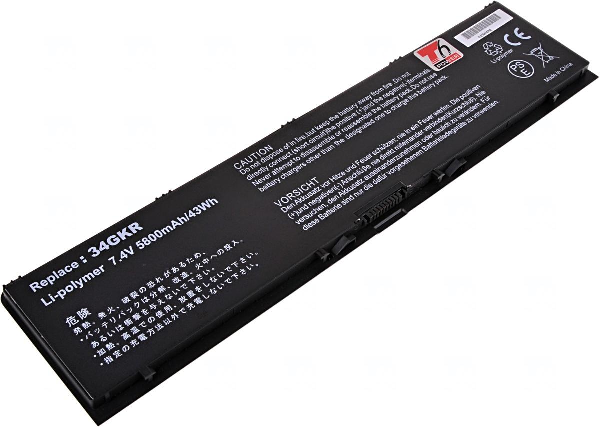Baterie T6 power Dell Latitude E7440, 4cell, 5800mAh
