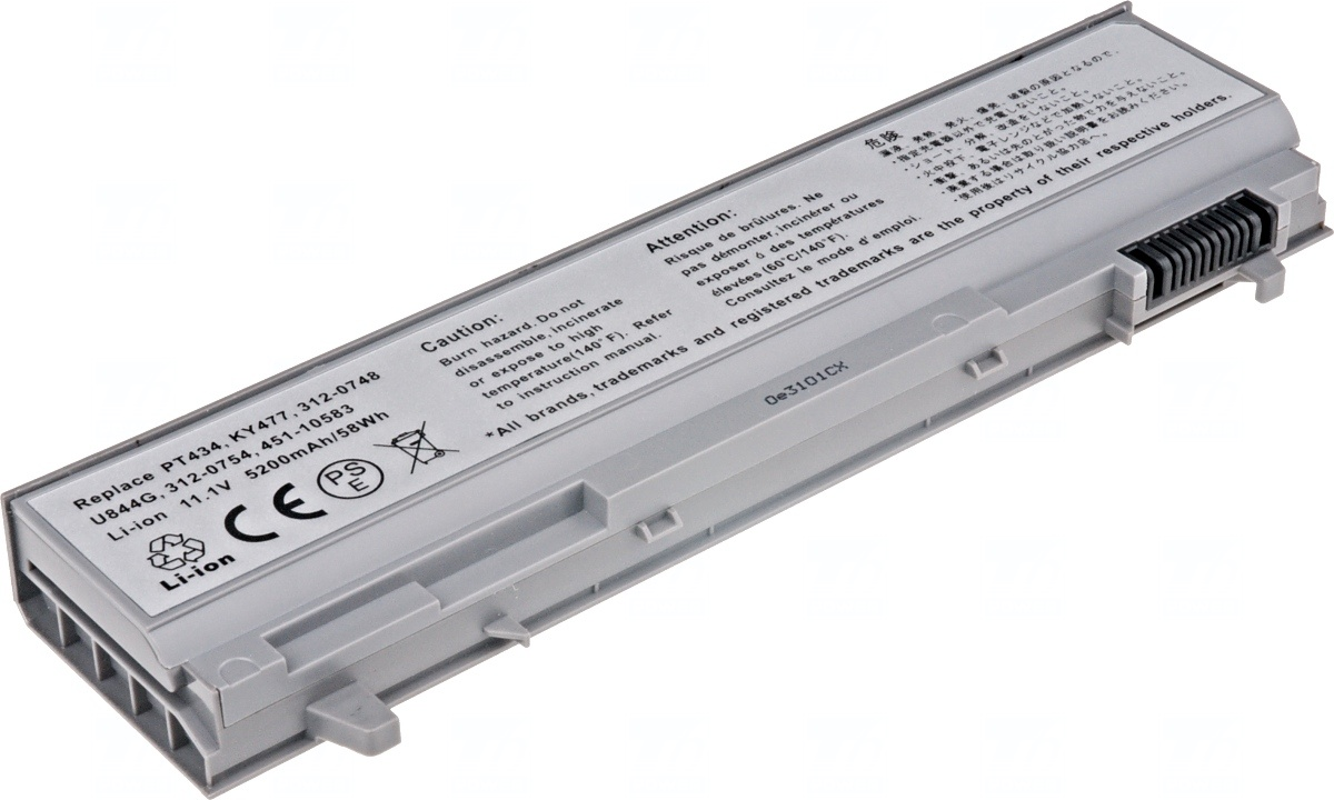 Baterie T6 power Dell Latitude E6400, E6410, E6500, E6510, 6cell, 5200mAh