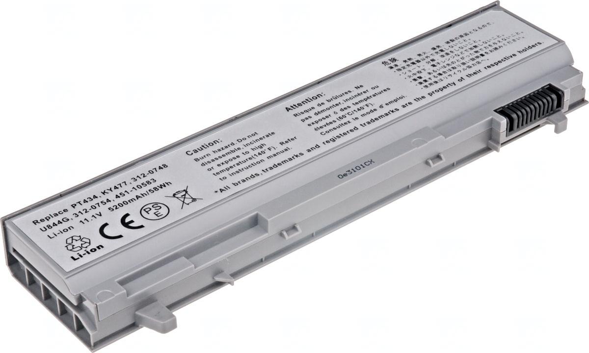 Baterie T6 power Dell Latitude E6400, E6410, E6500, E6510, 6cell, 5200mAh