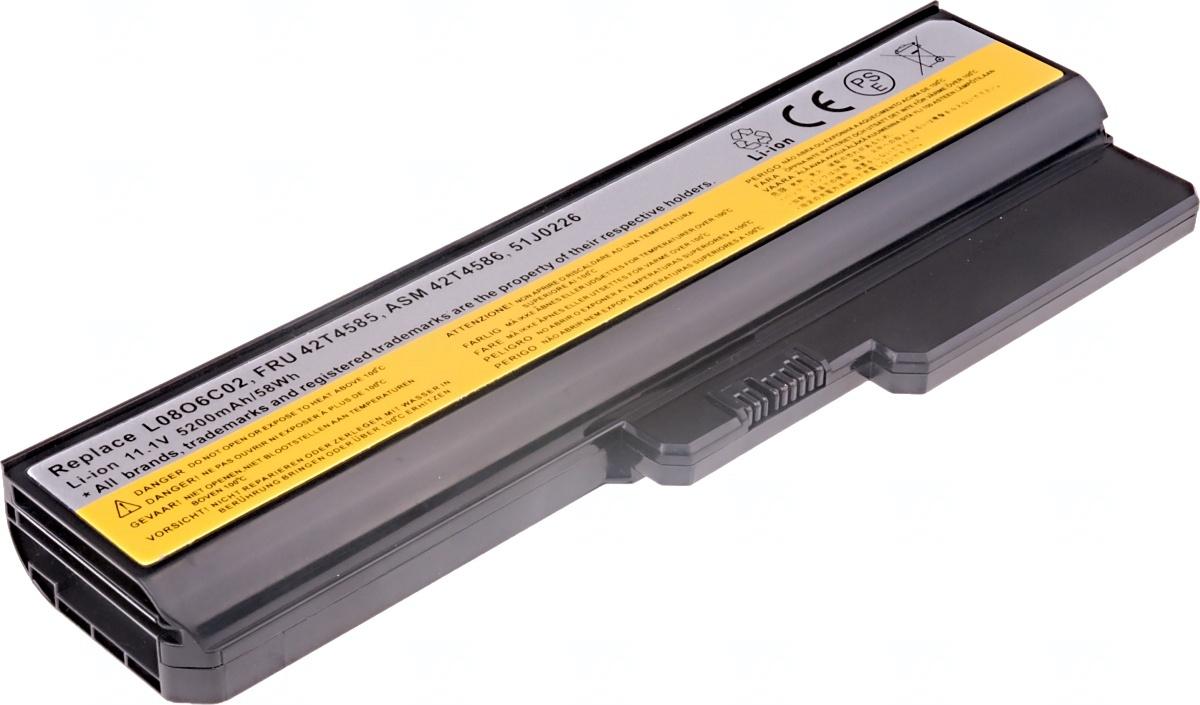 Baterie T6 power Lenovo 3000 G430, G450, G530, G550, N500, IdeaPad V460, Z360, 6cell, 5200mAh