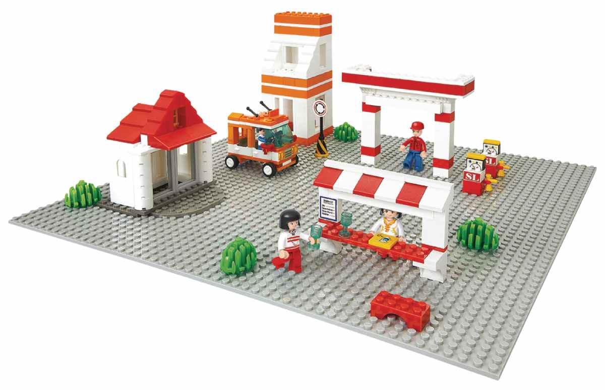 Sluban M38-B0182 - Town Series - Basic Building Plate 40 x 40 cm Grey