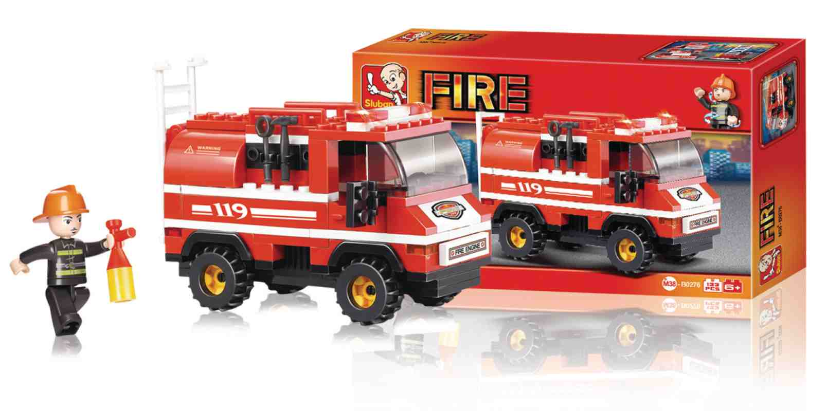 Sluban M38-B0276 - Fire Series - Fire Truck