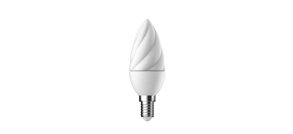 Světelný zdroj LED Energetic Lighting E14 5W->32W 2700K 350lm C38 matný kroucený