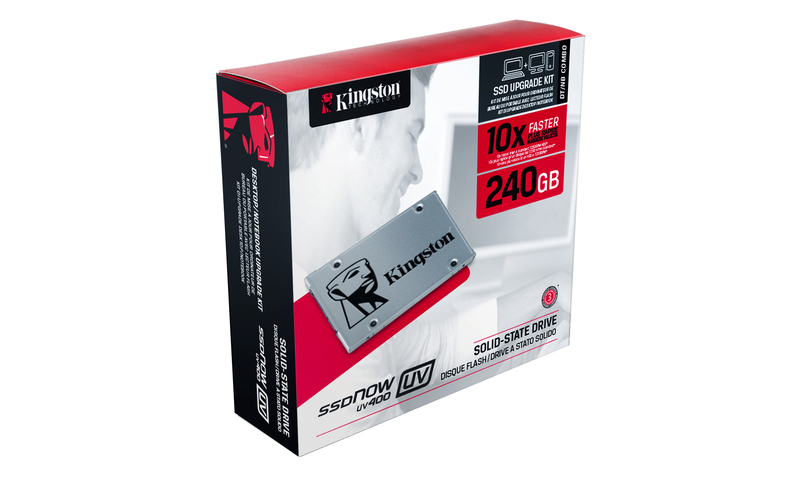 Kingston Flash 240GB SSDNow UV400 SATA 3 2.5 (7mm height) Upgrade Bundle Kit