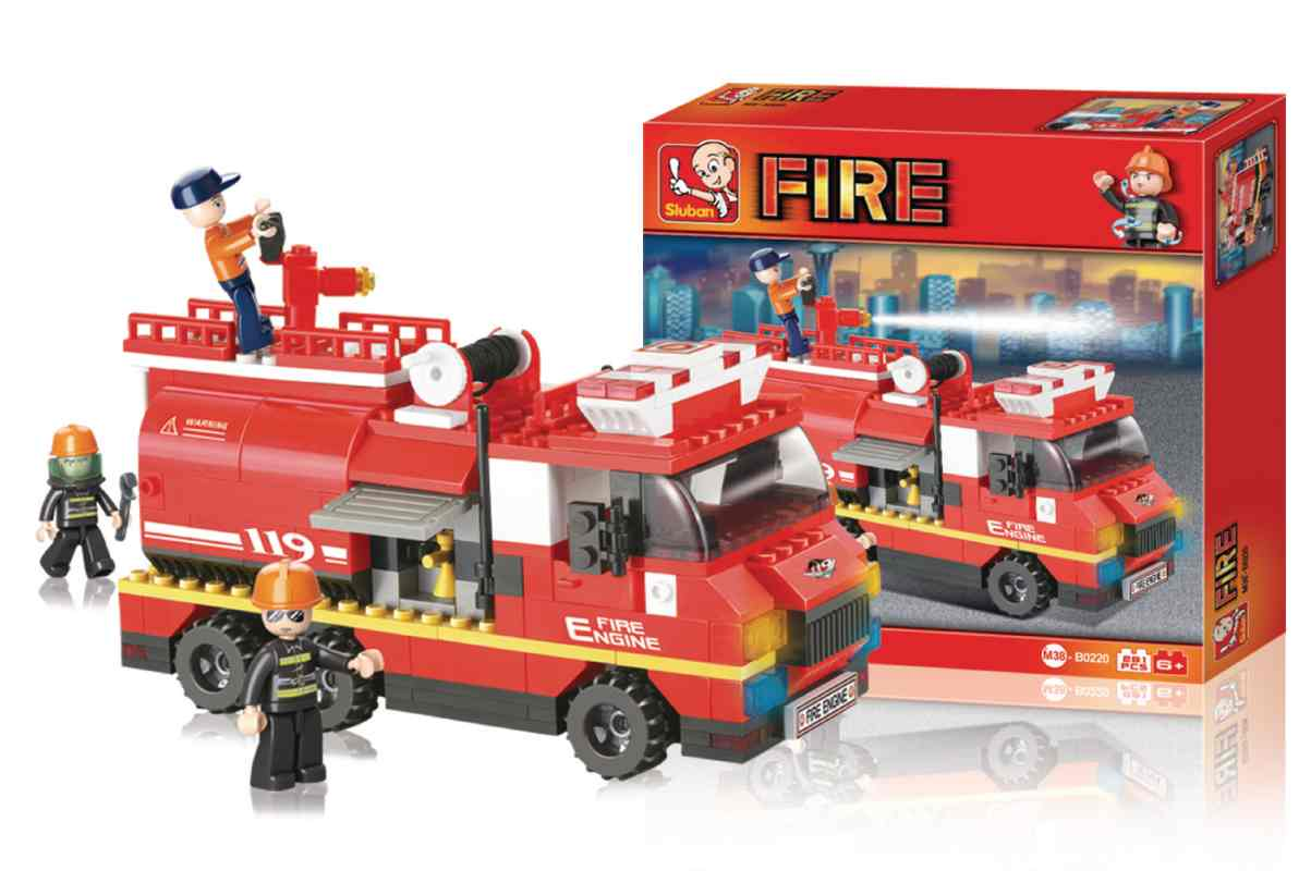 Sluban M38-B0220 - Fire Series - Large Fire Truck