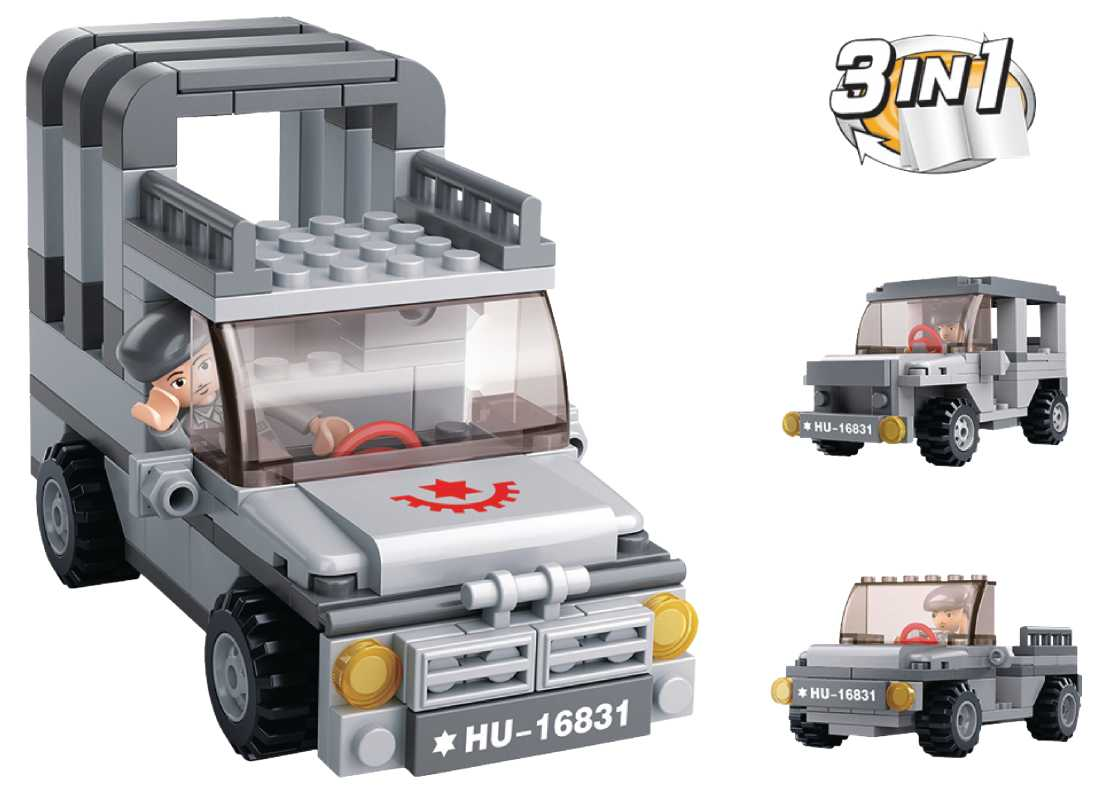 Sluban stavebnice Jeep 3v1 - M38-B0537A