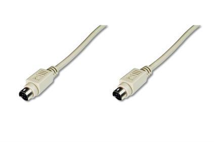 ASSMANN PS2 Connection Cable miniDIN6 M (plug)/miniDIN6 M (plug) 2,0m grey