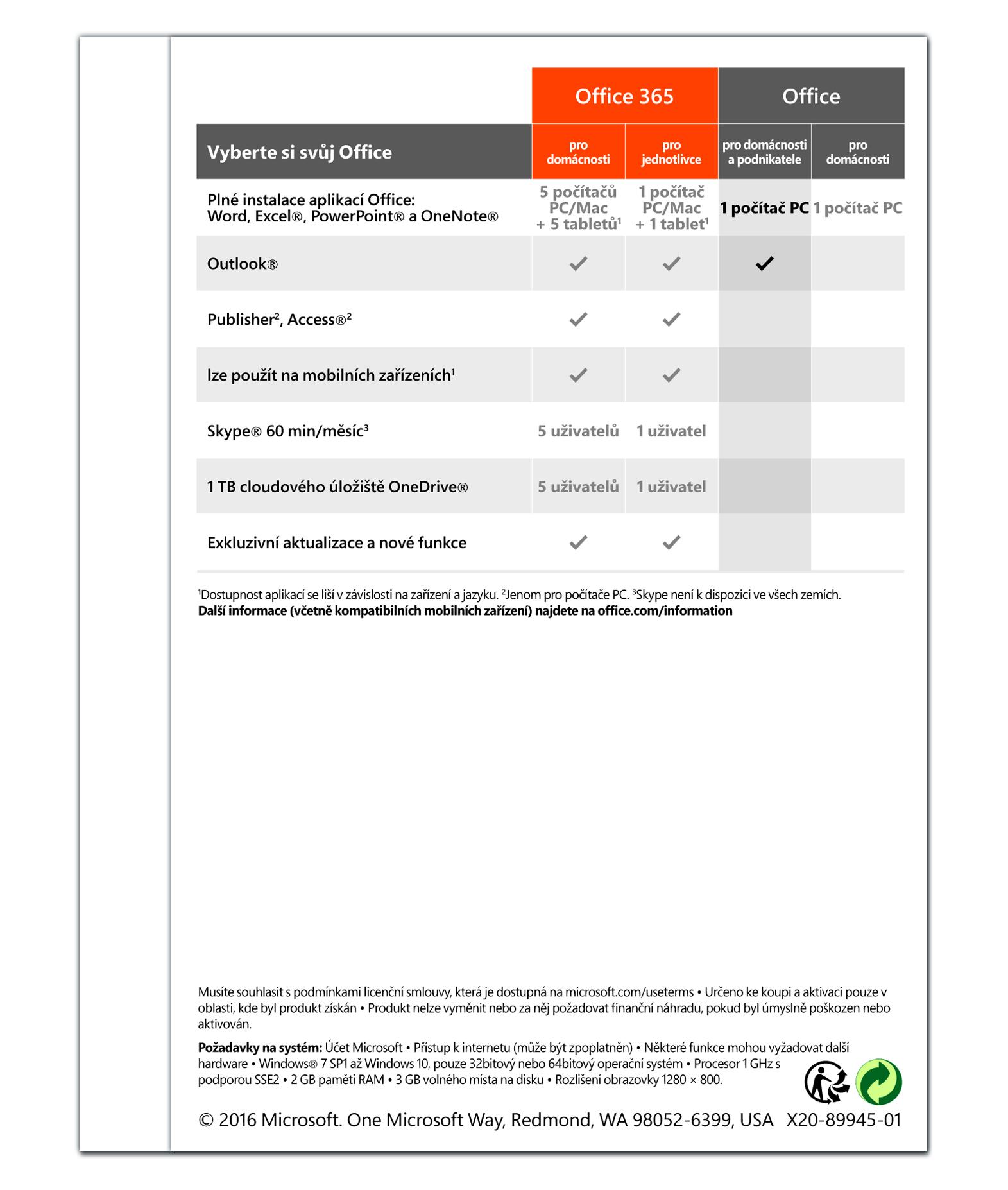 Office 2016 pro domácnosti a podnikatele Win Slovak