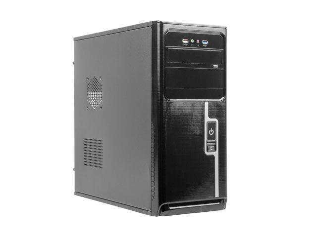 Gembird case CCC-D1-01 Midi Tower ATX without power supply, black