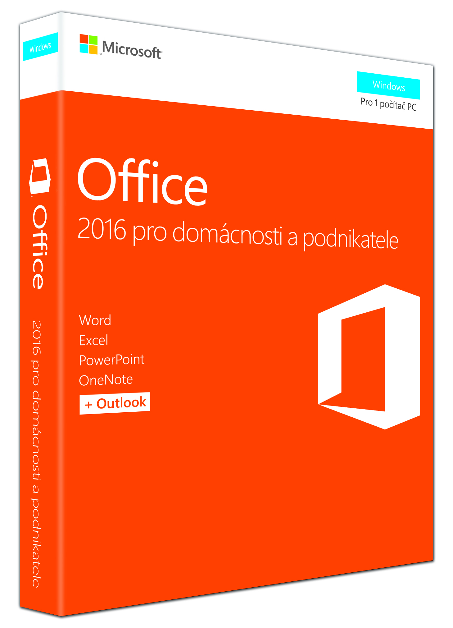MS FPP Office 2016 pro domácnosti a podnikatele Win EN P2 - bez média