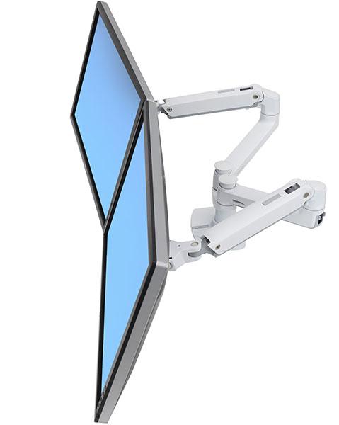 """ERGOTRON LX Dual Side-by-Side Arm, stolní ramena pro 2 lcd. max. 27"""", flexibilní , bílé"""