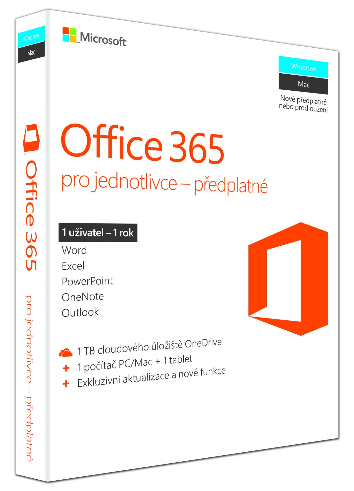 Office 365 Personal 32-bit/x64 CZ - předplatné na 1 rok