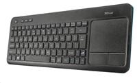 TRUST Klávesnice bezdrátová s touchpadem Veza Wireless Touchpad Keyboard