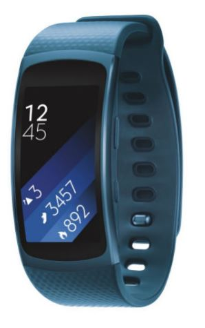 SAMSUNG Gear Fit2, Blue rozbaleno