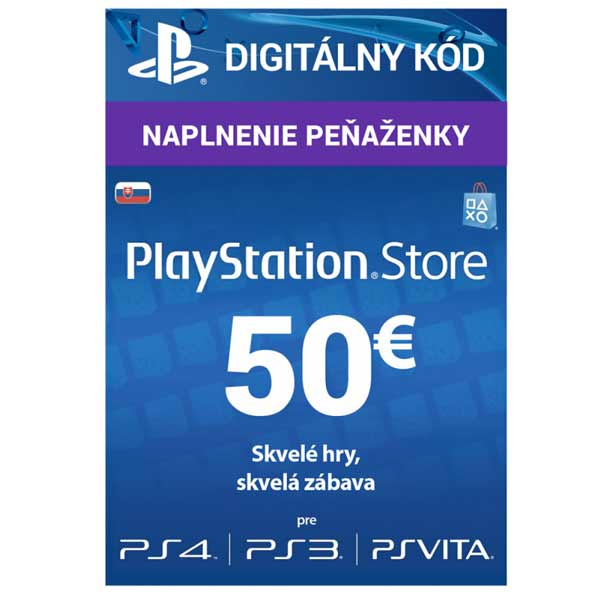 SONY PlayStation Live Cards Hang EUR50/SVK