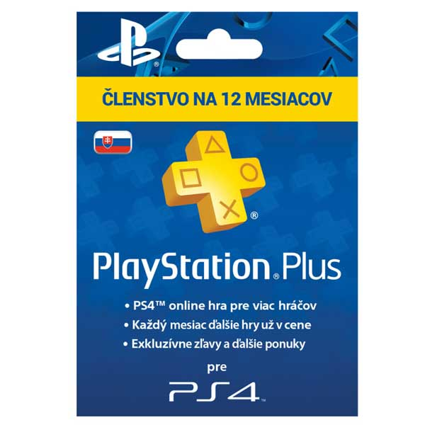 PlayStation Plus Card Hang 365 Day pro SK PS Store