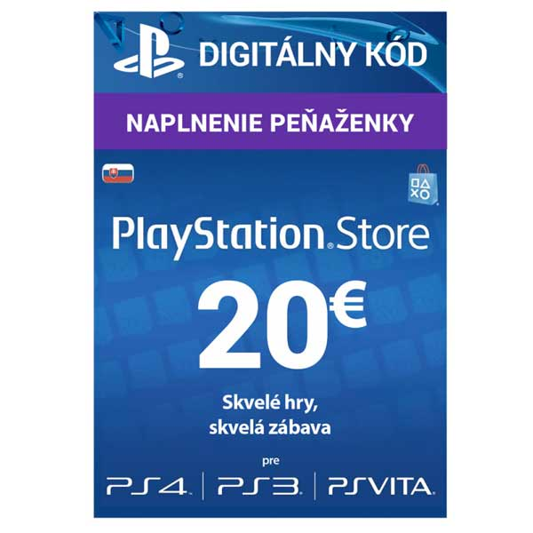 Sony PlayStation Store předplacená karta 20 EUR PlayStation Live Cards Hang EUR20/SVK