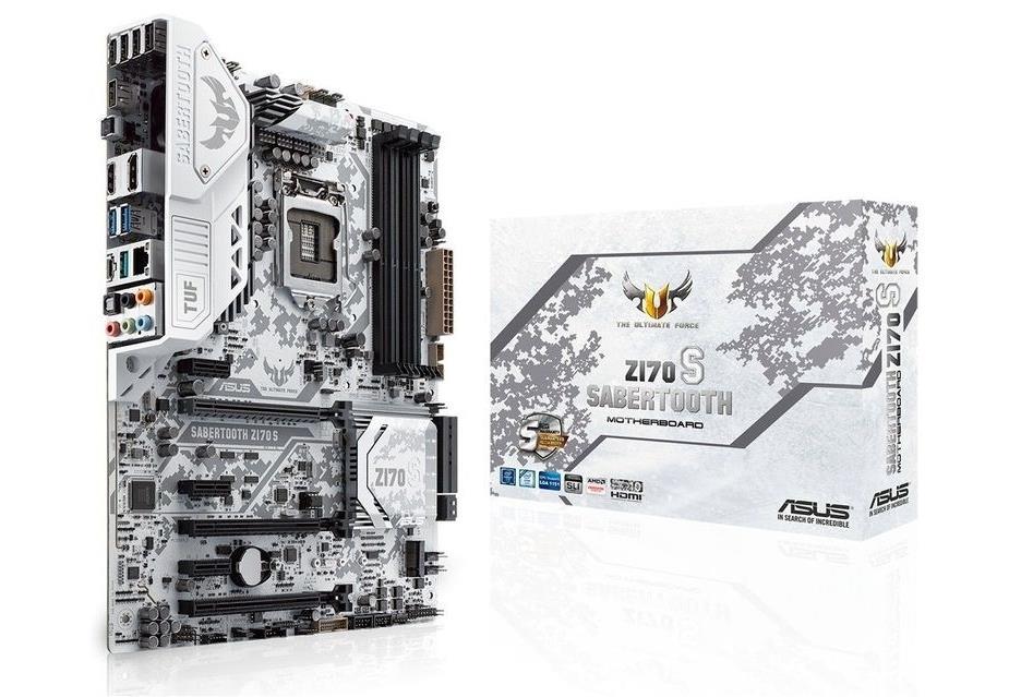 ASUS SABERTOOTH Z170 S, Z170, DualDDR4-2400, SATA3, SATAe, HDMI, DP, ATX