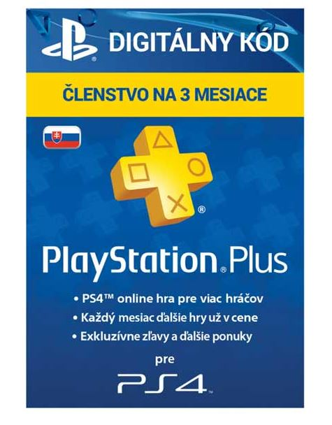 SONY PlayStation Plus Card Hang 90 Days/SVK
