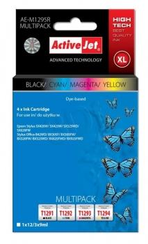 Ink ActiveJet AE-M1295R | black, Cyan, Magenta, Yellow | 12 ml/ 3x9 ml | Epson T