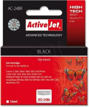 Ink ActiveJet AC-24BR | black | 10 ml | Canon BCI-24BK