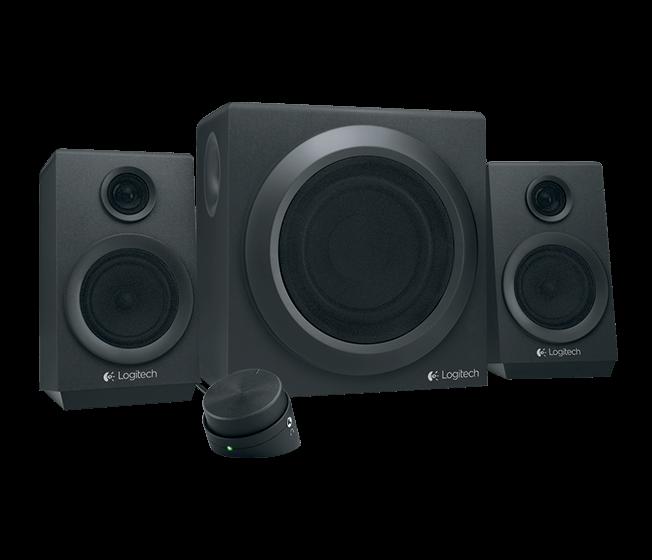 Logitech Repro Speaker Z333, 2.1, 80W, 3.5mm, ovládání basů, RCA, 3,5mm, černé