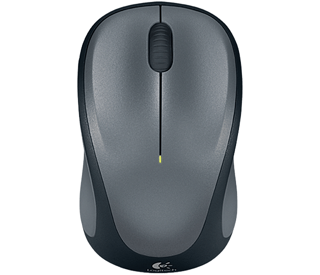 Logitech myš Wireless Mouse M235 Grey, 2,4 Ghz, podpora unifying, šedá