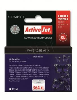 Ink ActiveJet AH-364PBCX | Foto black | 12 ml | HP HP 364XL CB322EE