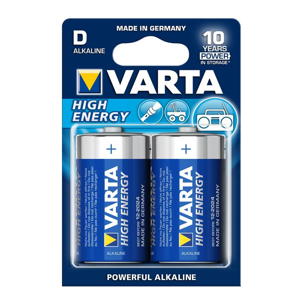 VARTA alkaline batteries R20 (typ D) 2pcs high energy