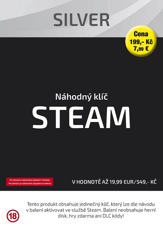 Náhodný klíč Steam Silver