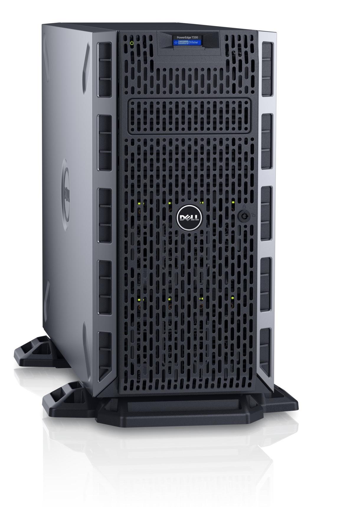 DELL PE T330 QC Xeon E3-1220 v5/2x8GB/4x1TB/2xLAN/RAID 5/redzdroj/iDrac ent.