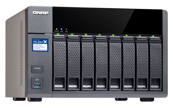 QNAP TS-831X-8G Turbo NAS server, 1,4 GHz QC/8GB/8xHDD/2xGL/2x10GL/USB 3.0/R0,1,5,6/iSCSI