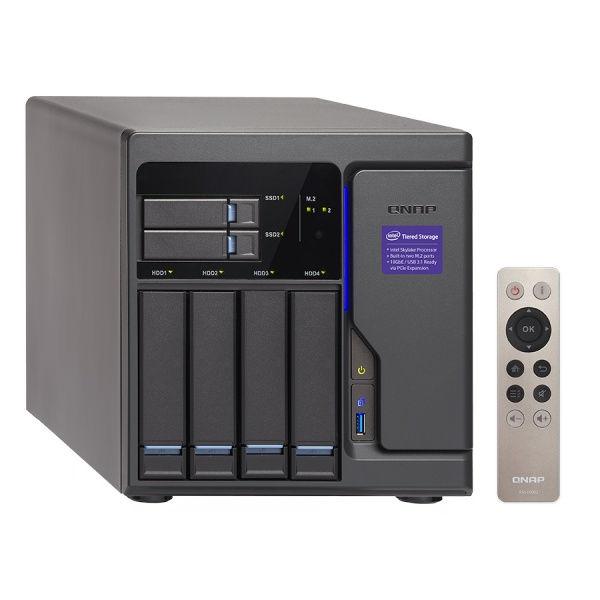 QNAP TVS-682-i3-8G Turbo NAS server, 3,7 GHz DC/8GB/2xSSD+4xHDD/4xGL/3xHDMI/USB 3.0/R0,1,5,6/iSCSI/DO