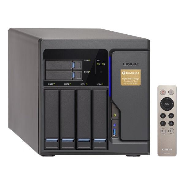 QNAP TVS-682T-i3-8G Turbo NAS server, 3,7 GHz DC/8GB/2xSSD+4xHDD/4xGL+2x10GL/2xTB/3xHDMI/USB 3.0/R0,1,5,6/iSCSI/DO