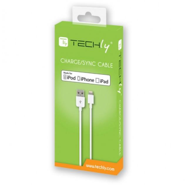 Techly kabel USB Lightning 8-pin pro iPhone / iPod / iPad, 1m bílý MFI box