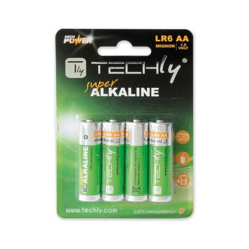 Techly alkalické baterie 1.5V AA LR6 4 ks