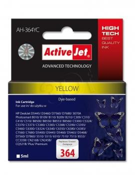 Kazeta ActiveJet AH-364YC | Yellow | 5 ml | HP 364 CB320EE