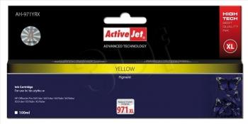 Kazeta ActiveJet AH-971YRX | Yellow | 100 ml | HP HP 971XL CN628AE