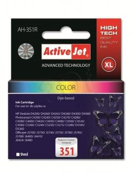 Ink ActiveJet AH-351R | Kolor | 9 ml | HP HP 351 CB337EE