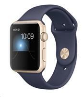 Apple Watch Sport 42mm zlatý hliník s půlnočně modrým sportovním řemínkem (2015)