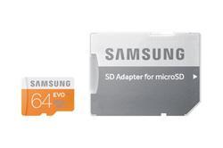 Samsung EVO Micro SD karta 64GB Class 10 + adaptér