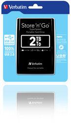 "Verbatim 2,5"" Externý HDD 2TB. USB 3.0 Black. Blister"